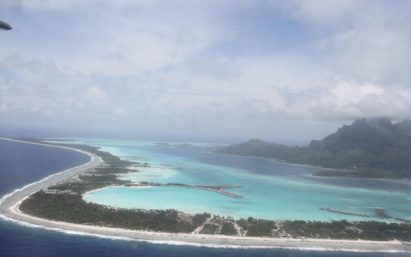 Anflug Bora Bora atemberaubend