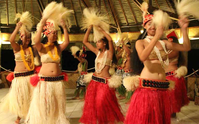 Tanz Show auf Huahini