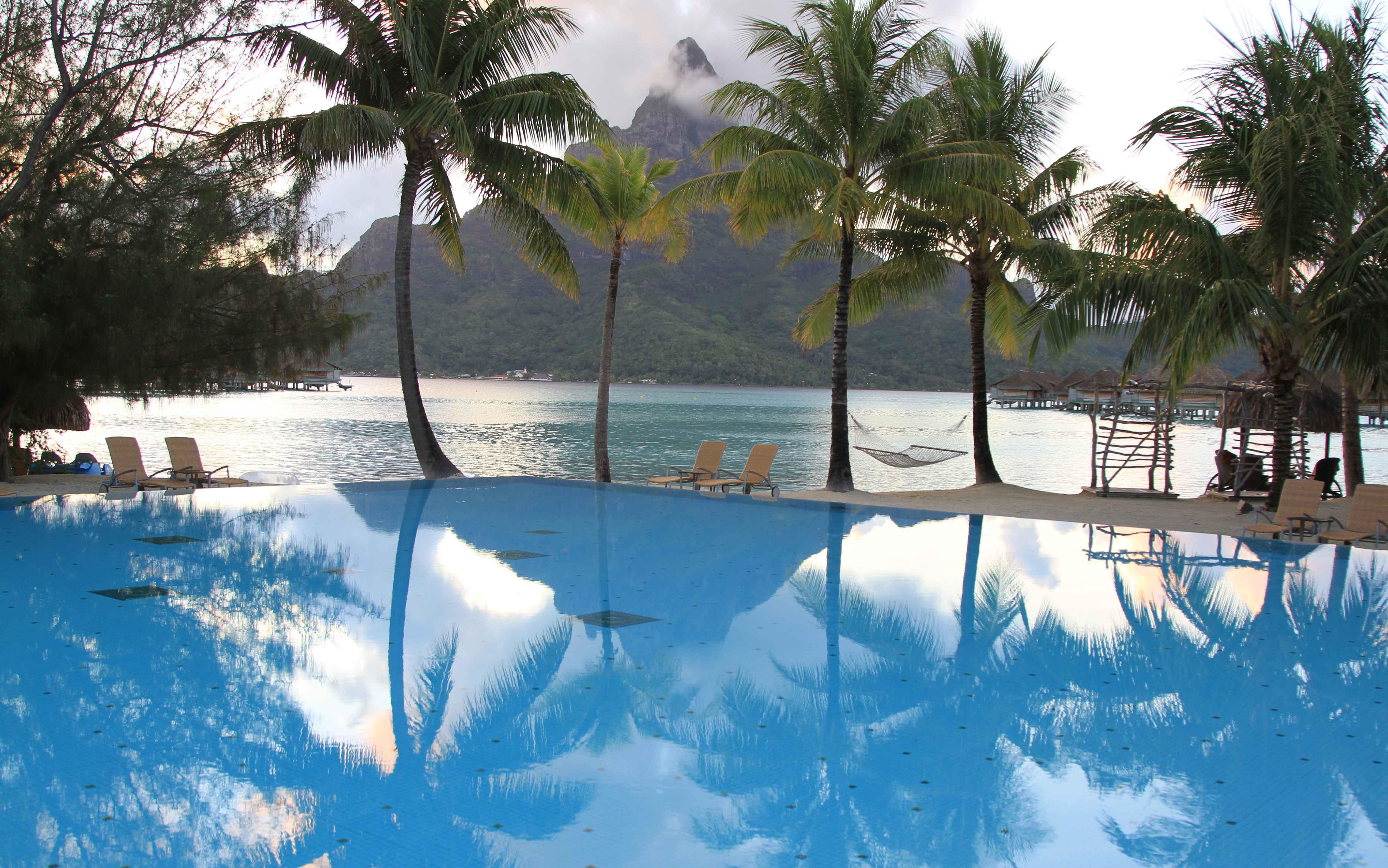 Morgenstimmung auf Bora Bora - Französisch-Polynesien
